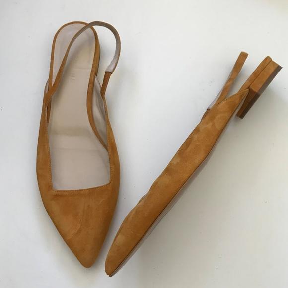 c5108c6dc Everlane Shoes | Mustard Suede Sling Back Flats 9 | Poshmark